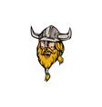 Viking Warrior Head Retro vector image vector image