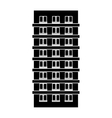 contour apartment building line sticker vector image