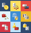 digital blue red business icons vector image
