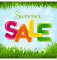 summer sale poster with color text vector image vector image