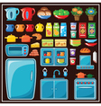 Set of kitchen furniture vector image vector image