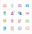 Communication Icons Set 1 - Colored Series vector image