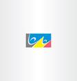 people dancing rectangle logo vector image