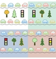 colorful little cars vector image