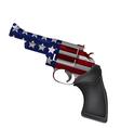 America Gun Revolver Crime Isolate vector image