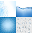 blue water backgrounds set vector image