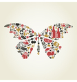 Food the butterfly vector image