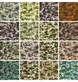 Mega Set of Seamless Camouflage Pattern vector image