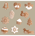 set of gingerbread cookies vector image