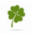 Symbol of clover with four petals vector image