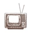 TV Retro Hand Draw Sketch vector image