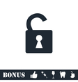Unlock icon icon flat vector image
