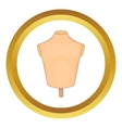 Mannequin or dressmakers dummy icon vector image vector image