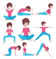 yoga life women yoga poses set vector image