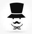 Man mustache icon vector image