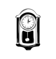 Antique wall pendulum clock icon isolated on white vector image vector image