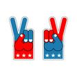 foam finger victory symbol of usa patriot vector image