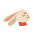 christmas rabbit animal scarf winter image vector image