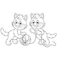 little kittens playing vector image
