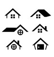 house icon set vector image