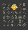 different construction icons collection web and vector image vector image
