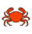 crab icon isolated on white background design vector image