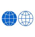Globe sign vector image