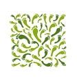 Green footprint background for your design vector image vector image