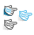 3 labels - click here vector image