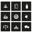 black election icon set vector image vector image