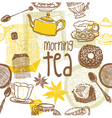 morning tea background vector image