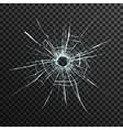 Bullet Hole In Transparent Glass vector image