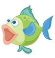 a blue-green fish vector image