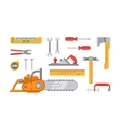 Construction Tools Objects vector image