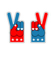foam finger victory symbol of usa patriot vector image