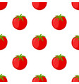 red tomatoes seamless pattern cartoon flat style vector image