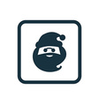 santa icon Rounded squares button vector image