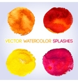 Warm colors yellow orange red pink watercolor vector image