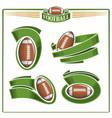 american football balls vector image