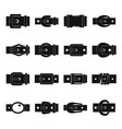 belt buckles icons set simple style vector image