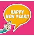 Happy new year sticker bubble vector image vector image