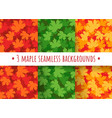 maple leaves seamless patterns vector image