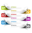 Set of Colorful Sample option stickers vector image vector image
