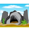 Cave in grief vector image