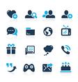 Social Communications Azure vector image vector image