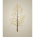 realistic autumn tree vector image