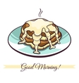 Pancakes With Condensed Milk vector image