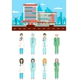 Clinic with doctors vector image