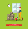 loader concept in flat style vector image