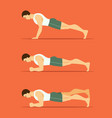 man in a plank posture vector image